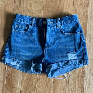 Topshop Moto Rosa high waisted shorts